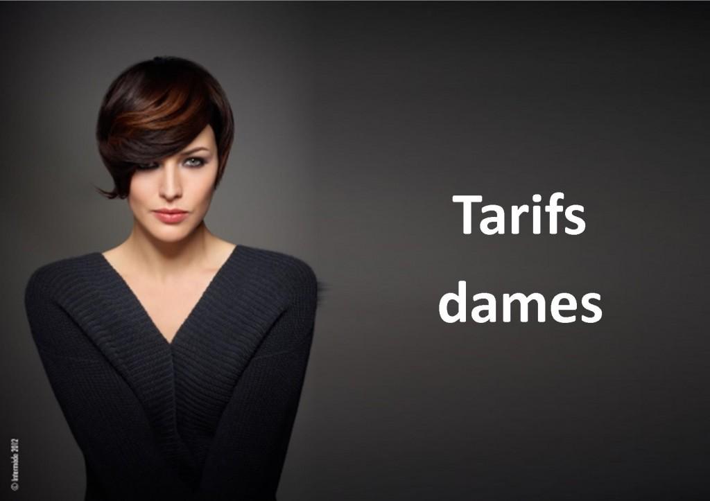 tarifs dames